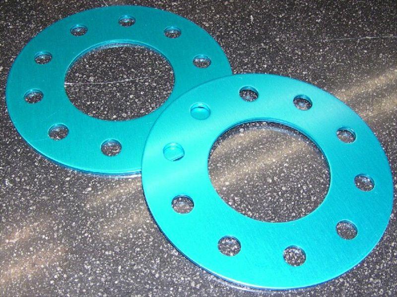 アジャストプレート(ブルーアルマイト仕上げ) T=5ミリ PCD100 4穴