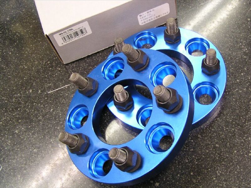 ワイドトレッドスペーサー(ブルーアルマイト) PCD100 5穴 12X1.25