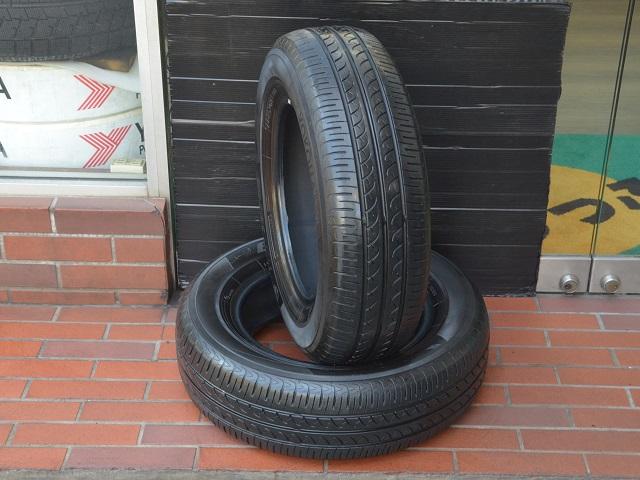 ヨコハマ ブルーアース 185/70R14 中古タイヤ2本セット